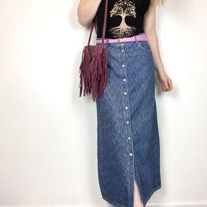 Calvin Klein    Vintage Button Down Denim Skirt
